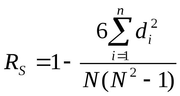 Коэффициент ранговой корреляции Спирмена